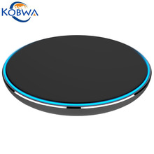 2017 Newly Qi Round Wireless Charger Slim LED Light Smart Fast Charge  Mobile Phone Charger For Apple Samsung&Other Brands