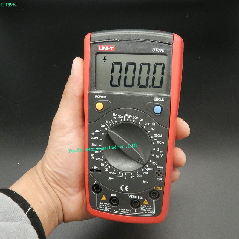 UNI-T UT39E Digital Multimeter AC DC Volt Amp Ohm Capacitance Temp Hz Tester  Test  LCR Meter unit ut 61e ut61e digital handheld multimeter tester dmm ac dc volt ohm frq