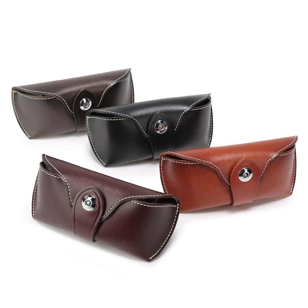 fd49082568d1 Women Men Genuine Leather Handmade Eyeglass Case Full Grain Vegetable  Tanned Leather Eyewear Sunglasses Protective holder