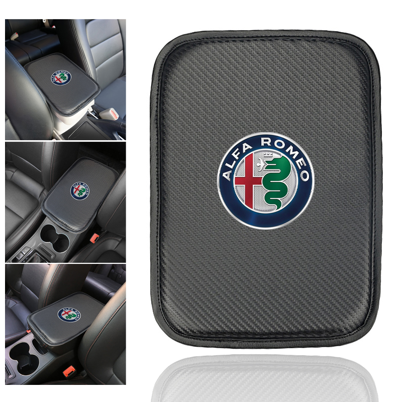 1pcs Car Console Box Armrest Pad Protective Mat Cover For Alfa Romeo 159 147 156 Giulietta 147 159 Mito Auto Accessories