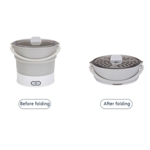 Image 4 - Folding Electric Skillet Kettle Heated Food Container Heated Lunch Box Cooker Portable Hot Pot Cooking Tea