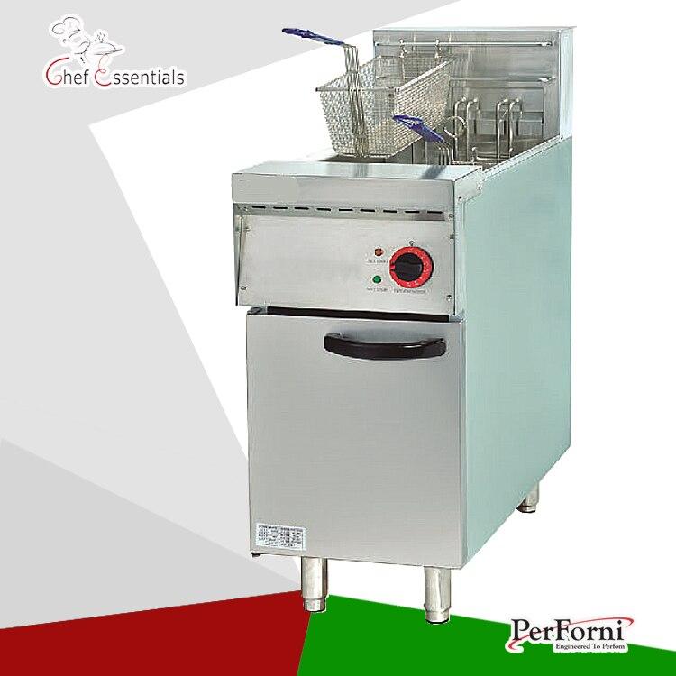 PKJG-DF26 Electric 1-Tank Fryer, 2-Basket, for Commercial Kitchen pkjg gh776 gas convection pasta cooker 6 pan for commercial kitchen