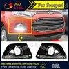 high quality 12V 6000k LED DRL Daytime running light case for Ford Ecosport 2013-2014 Fog lamp frame Fog light Super White