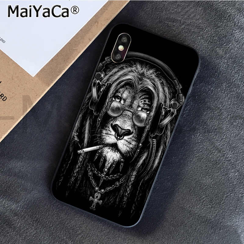 MaiYaCa Animaux الأسد وصل حديثا الهاتف الخليوي حالة ل فون SE 2020 11 برو 6S 6 زائد 7 7 زائد 8 8 زائد X Xs ماكس 5S XR