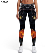 KYKU Halloween Leggings Women Pumpkin Elastic Party Trousers Evening Spandex Harajuku Printed pants Womens Pants