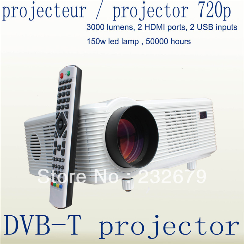 Fastfox Hd Projector Full Color 720p 3000 Lumens Analog Tv: Best Perfect New Native 720P 3000lumens 50,000Hrs LED