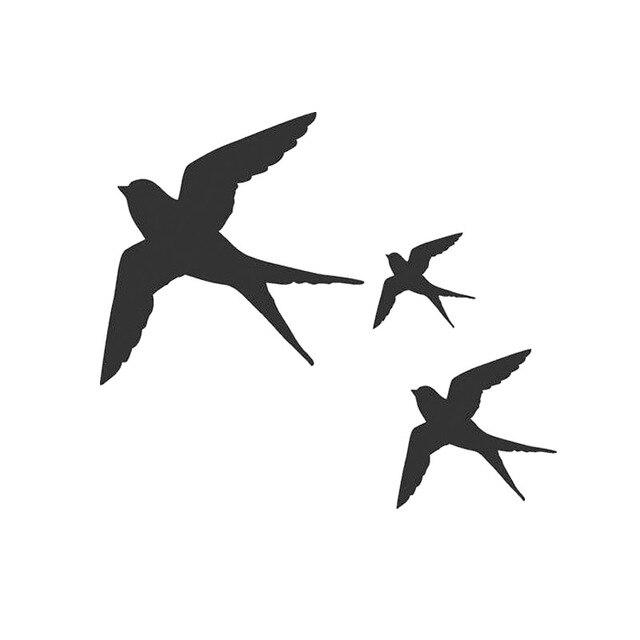 Hotmeini 13x13cm Swallow Bird Window Wall Stickers