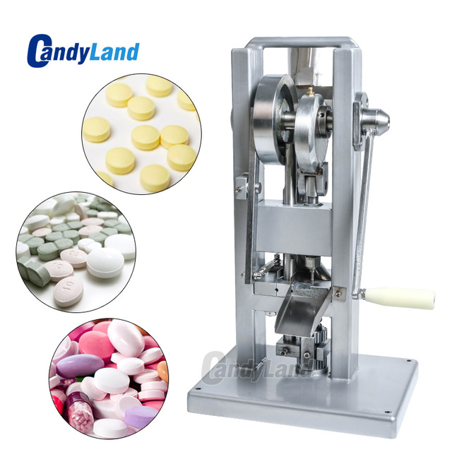 CandyLand TDP0 Manual Single Punch Sugar Tablet Press Machine Milk Slice Making Hand-Operated Mini Type Calcium Tablet Maker