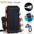 Nova prova d' água rápido carregador de bateria de telefone celular painel solar power bank externo portátil bateria para iphone xiaomi haiwei
