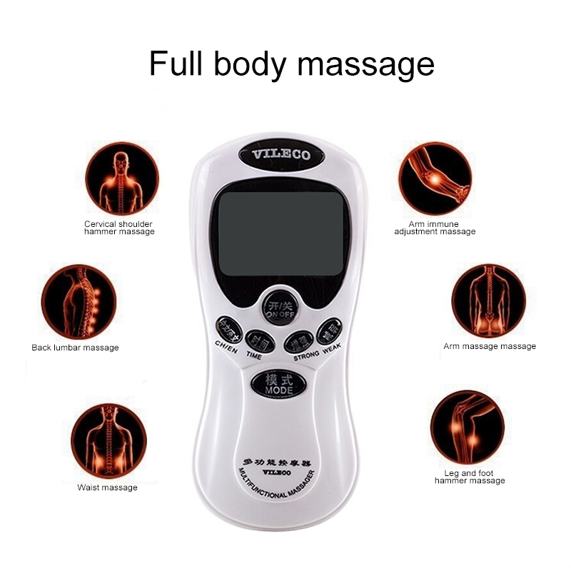 Electrical Muscle Stimulator Slimming MachineBack Neck Waist Hand And Leg Relax Therapy Massager Digital Meridian Massage