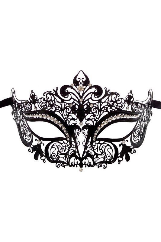 Masquerade Diamond Metal Mask Half Face Princess Cosplay Metal Fashion Eye Mask