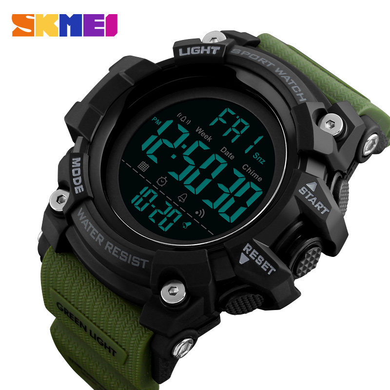 SKMEI Men's Sports Watch Fashion Digital Mens Watches Waterproof Countdown Dual Time Quartz Wristwatches Relogio Masculino