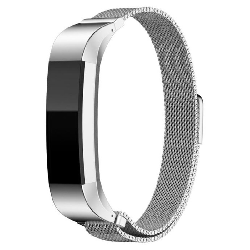 Prix pour 12mm Haute Qualty Montre de courroie de bande Remplacement Milanese Magnétique Boucle En Acier Inoxydable Personnalisé Band Pour Fitbit Alta Montre Smart Watch