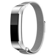 12mm venda de Reloj de la correa de Reemplazo de Alta Qualty Milanese Bucle Magnético de Acero Inoxidable Personalizada Banda Para Fitbit Alta Reloj Inteligente