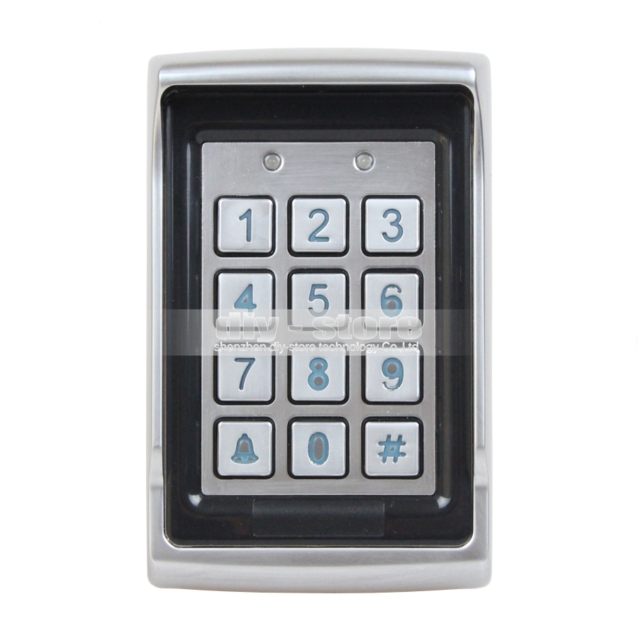 ФОТО DIYSECUR Access Controller Metal Case Password ID Card Reader 125KHz RFID Access Control Keypad BC400