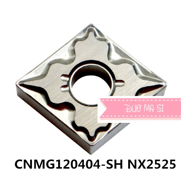 CNMG120404-SH NX2525,original <font><b>CNMG</b></font> <font><b>120404</b></font> SH insert carbide for turning tool holder boring bar image