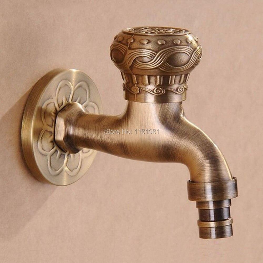 Bronze Garden Faucet Laundry Mop Pool Cold Water Bibcock