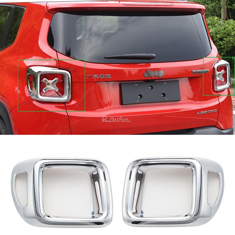 New Chrome Bright Tail Rear Light lamp Cove Trim for Jeep Renegade 2015 2016 2pcs