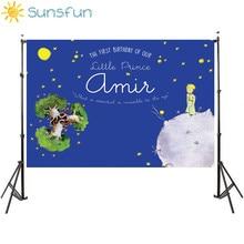 Sunsfun التصوير خلفية الأمير الصغير موضوع حفلة عيد ميلاد القمر نجوم خلفية فوتوكالر صور استوديو كشك الصور