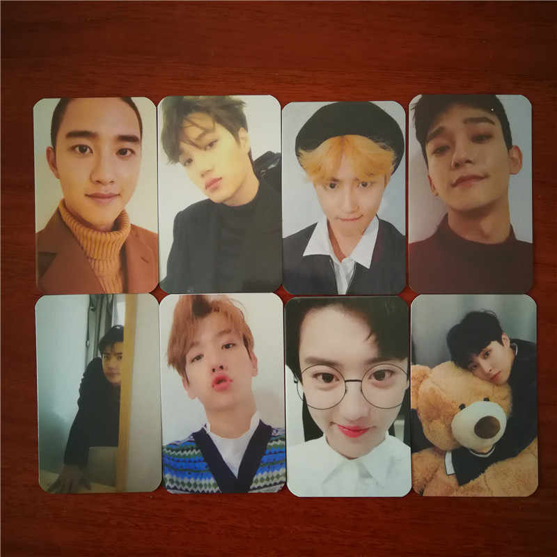 KPOP EXO Winter Universe Album Photo Card Hip Hop Self Made Paper Cards Autograph Photocard.jpg q50