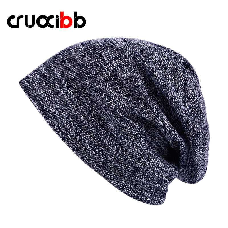 все цены на CRUOXIBB Brand High Quality Beanie Knitted Balaclava Men Unisex Skullies Autumn Winter Hat Women's 4 Colors онлайн