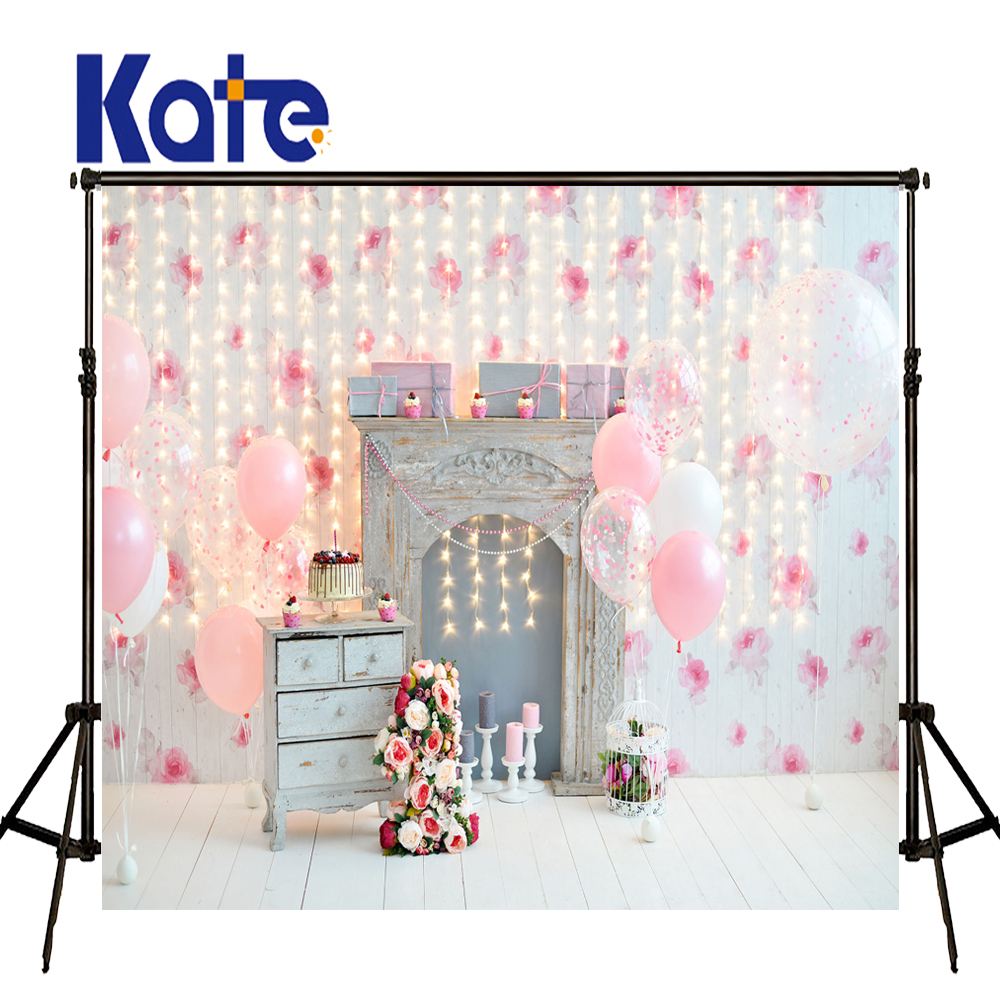 KATE pink photography backdrops Baby 1ST Birthday Background Flower and White Wood Floor Photography Background for Studio kate happy mothers day photography backdrops white flower wood background spring photography backdropsbaby background
