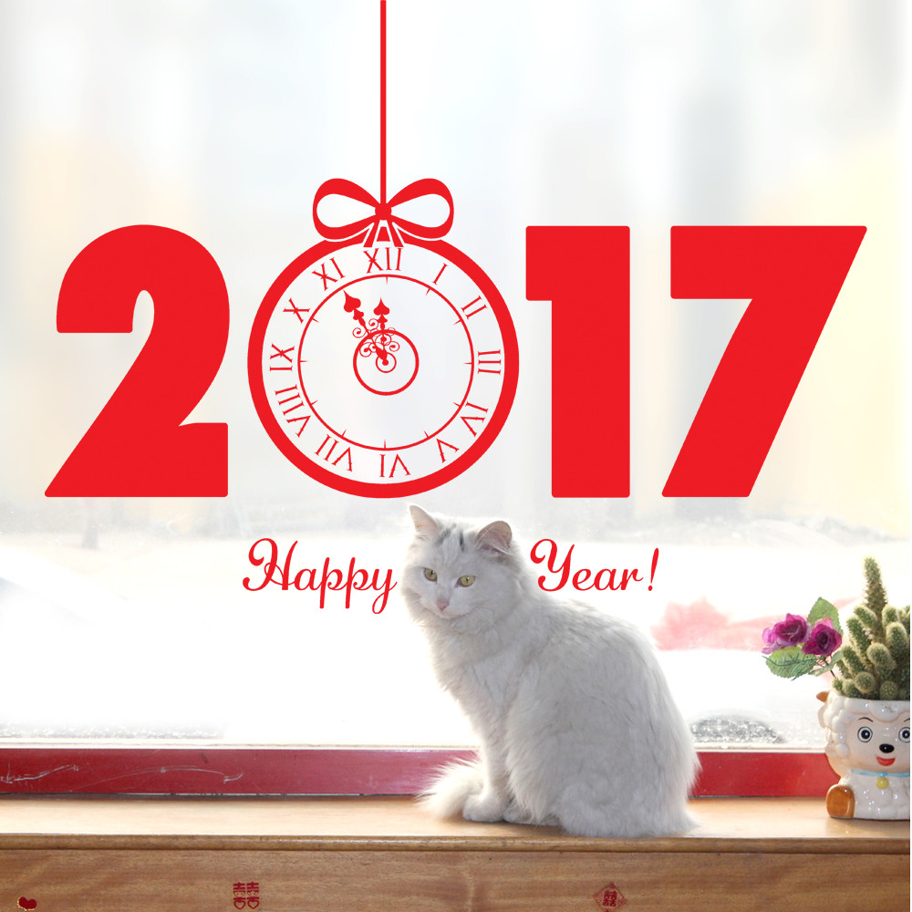 online get cheap christmas decorations shops aliexpress com new year 2017 christmas decorations for home wall sticker home shop windows decals decor removable new