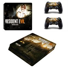 ffc8b56bbc Resident Evil Vinyl PS4 Slim Sticker for Sony Playstation 4 Slim Console  Skin +2 controller Stickesr for PS4 S Skin