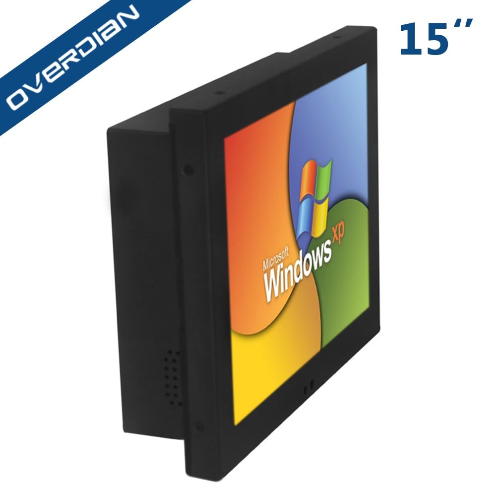 Système industriel XP d'ordinateur de 15 pouces construit dans l'écran tactile de résistance de WiFi écran industriel de tablette d'ordinateur PC SSD32G d'affichage à cristaux liquides