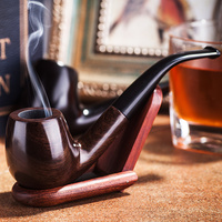 Adous اليدوية الأبنوس التبغ الأنابيب منتجات التبغ الأنابيب تدخين التبغ الأنابيب الخشبية الأب هدية له