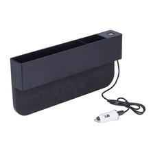 Автомобильный органайзер для сиденья, чехол из ПУ, карман для автомобильного сиденья, боковой карман, органайзер для монет, с 2 USB зарядными устройствами и 1 прикуривателем