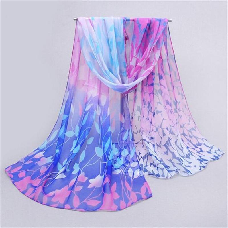 snowshine YLI Women Design Printed Silk Soft Silk Chiffon Shawl Wrap Wraps Scarf Scarves