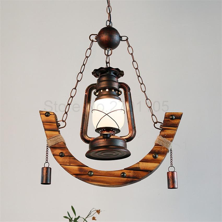 Retro Pendant Lamp Rural Creative Kerosene Lamp Old