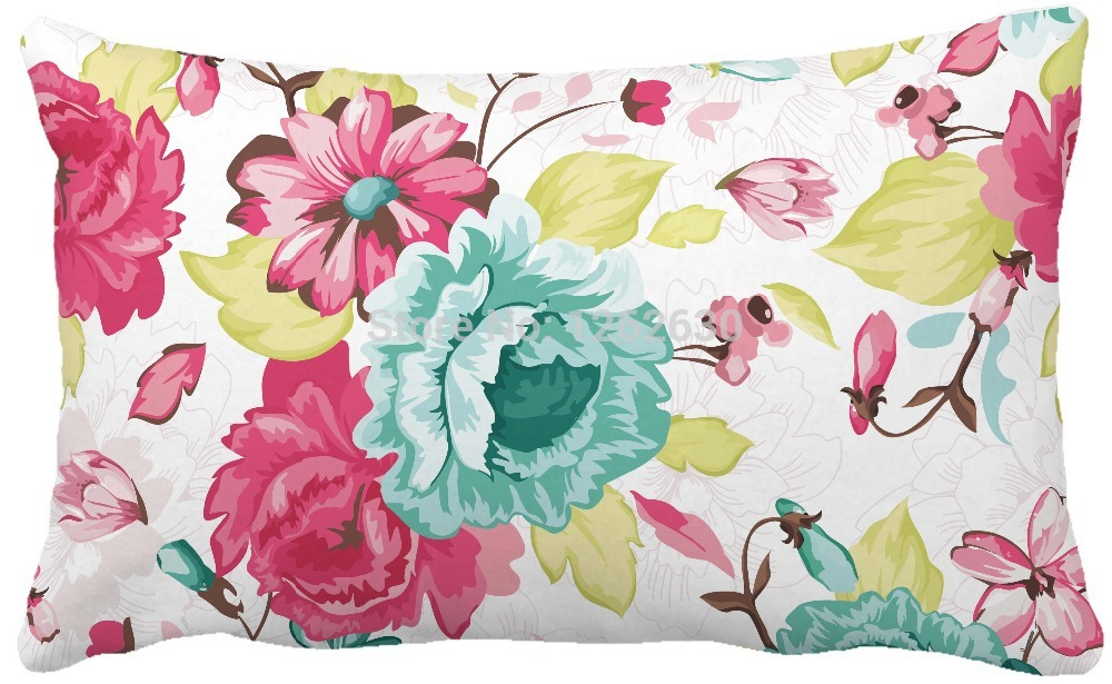 30cmx50cm Abstract floral <font><b>Elegance</b></font> Allover Print Custom <font><b>Home</b></font> <font><b>Decor</b></font> Throw Pillow almofadas decorate pillow sofa chair cushion