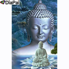 DIAPAI 100% Full Square/Round Drill 5D DIY Diamond Painting Religious BuddhaDiamond Embroidery Cross Stitch 3D Decor A20908 diapai 5d diy diamond painting 100% full square round drill text moon buddha diamond embroidery cross stitch 3d decor a21533