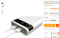Best Quality 20000mAh Mobile Power Bank Charger External Battery Fast Charging For Romoss Phones Tablet PC