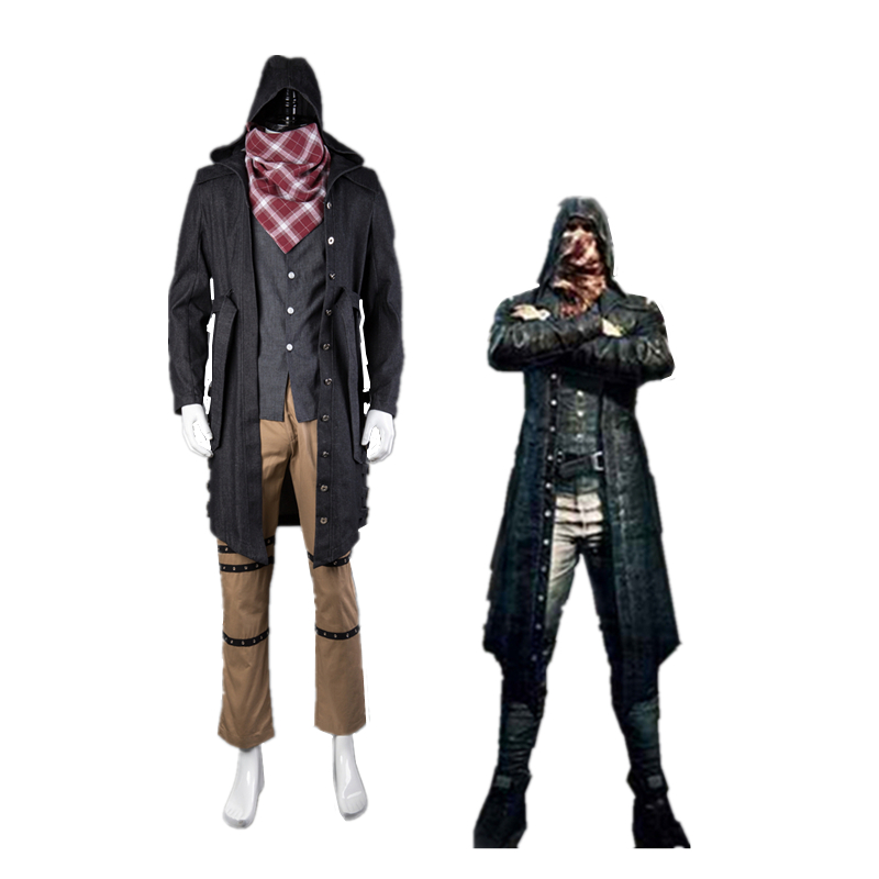 Athemis New Game PUBG Cosplay Costume PLAYERUNKNOWN'S BATTLEGROUNDS  Outfit Coat Pants  Scarf Custom Made Size