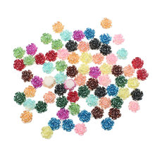 Embellishments Scrapbooking Diy-Accessories Beads Crafts Flower-Decoration Flatback Cabochon
