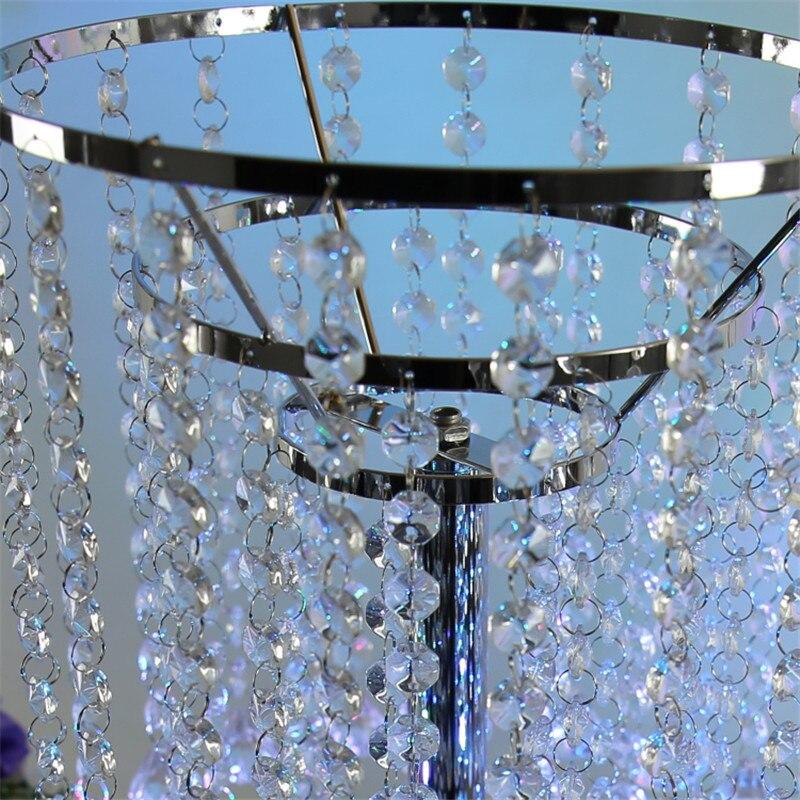 Свадебные украшения Кристалл стол центральные три слоя Металл Кристалл столпов свадьбы украшения партии событие День рождения 70 см - 2