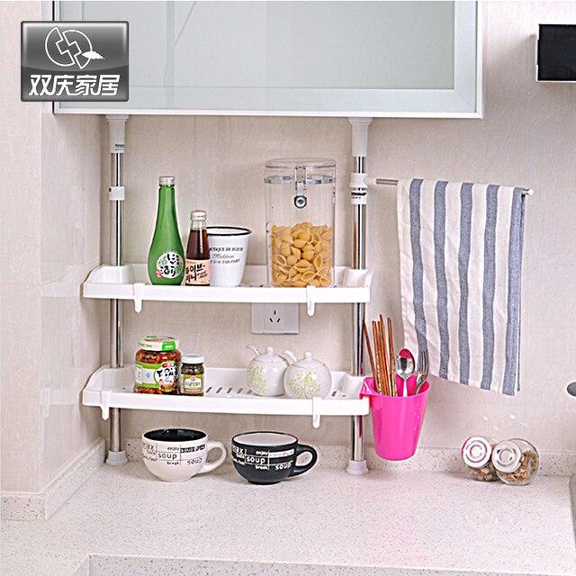 Shuangqing seasoning rack shelf height adjustable stainless steel ...