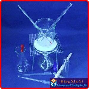 Image 2 - بيكر + ترايبود + الزجاج مخروطي قارورة + الكحول مصباح + الجذعية ميزان الحرارة ، الخ (14 أجزاء من السلع) الكيميائية التجربة جهاز