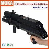 1 Pcs/lot Chinese wholesalers stage FX power 3 head confetti gun electric confetti machine pistol confetti gun wedding dedicated