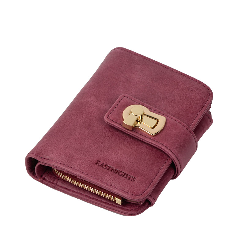 Women Fashion Genuine Leather Purse Brand Design Lady Zipper Wallets With Coin Pocket Card Holder