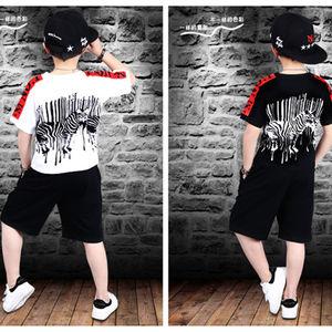 Image 2 - 스포츠 정장 십대 여름 소년 의류 세트 짧은 소매 티셔츠 & 바지 캐주얼 4 5 6 7 8 9 10 12 14 세 아동복