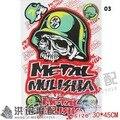 Frete grátis para o METAL MULISHA toda a motocicleta personalidade popular decorativo decalques da etiqueta de alta qualidade