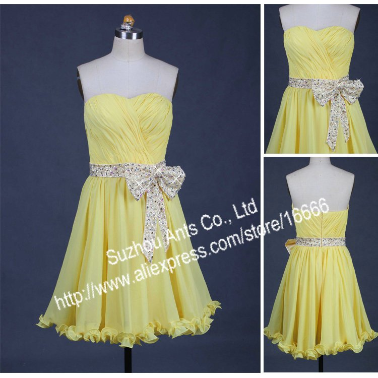 Online Get Cheap Prom Girl Yellow Dress -Aliexpress.com  Alibaba ...