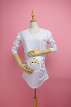"""baby face"" Maternity T-shirt Peekaboo Series Pregnancy Clothes for Pregnant Women Christmas Gift 100% Cotton Long-sleeve Shirts"