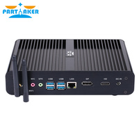 Partaker B16 8th Gen Mini PC Intel Core i7 8550U Quad Core 4.0GHz 8MB Cache Fanless Mini Computer Win 10 4K HTPC