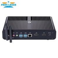 Partaker B16 8th Gen Mini PC Intel Core i7 8550U Quad Core 4.0GHz 8MB Cache Fanless Mini Computer Win 10 4K HTPC