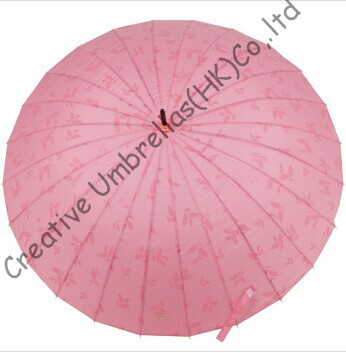 Hydrofuge, parapluie droit 24 côtes, parapluies dégradés de couleur, changeant progressivement de couleur, parapluie à nervures cannelées